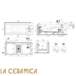 Ванна отдельностоящая Novellini Calos 15070