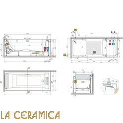 Ванна отдельностоящая Novellini Sense 3 17070