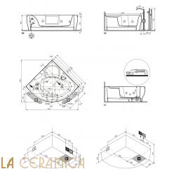 Ванна отдельностоящая Novellini Sense 7 Z2 140140-A