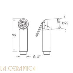 Душик гигиенический Nuova Osmo DS003-C/RACCORDINO