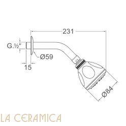 Верхний душ Nuova Osmo KBDT020-02