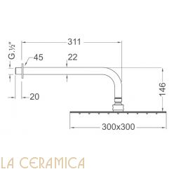 Верхний душ Nuova Osmo KBDQ022-06