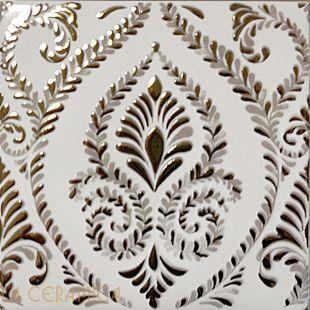 Керамическая плитка Decoratori Bassanesi ATELIER (15*15) Dark Ivory Gold