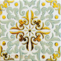Керамическая плитка Decoratori Bassanesi ATELIER (15*15) Green Tea Gold