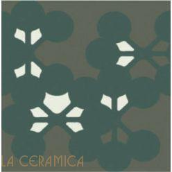 Керамическая плитка Mutina AZULEJ (20*20) Flores Nero