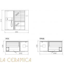 Многофункциональная баня Saunavita Ethos C SSAEC7C2 (Углавая-Пристенная)
