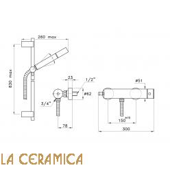 Душевой гарнитур Stella Bamboo 3283AC/302-6