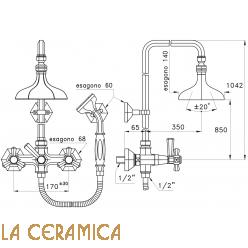Душевой гарнитур Stella Eccelsa 3284/33