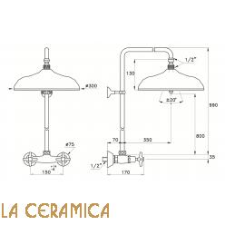 Душевой гарнитур Stella Italica 3283/301/314A-300