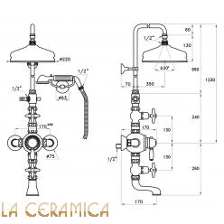 Душевой гарнитур Stella Italica IS3274/33-220