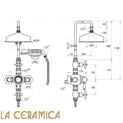 Душевой гарнитур Stella Italica IS3284/33-220