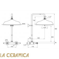 Душевой гарнитур Stella Italica Leve 3283/301/314A-300