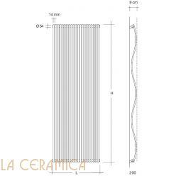 Дизайнерский радиатор Tubes Joba JV 200 (вертикальный)