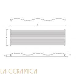 Дизайнерский радиатор Tubes Joba JO 200 (горизонтальный)