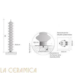 Дизайнерский радиатор Tubes Milano 170BAIDR