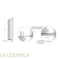 Дизайнерский радиатор Tubes Milano 170PAIDR