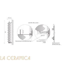 Дизайнерский радиатор Tubes Milano 170PAELI