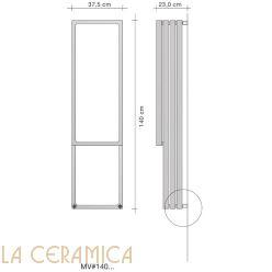 Дизайнерский радиатор Tubes Montecarlo MV 140 (вертикальный)