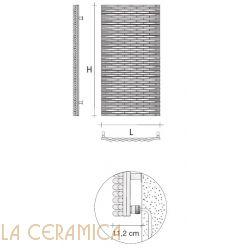 Дизайнерский радиатор Tubes Agora TRV20 (вертикальный)